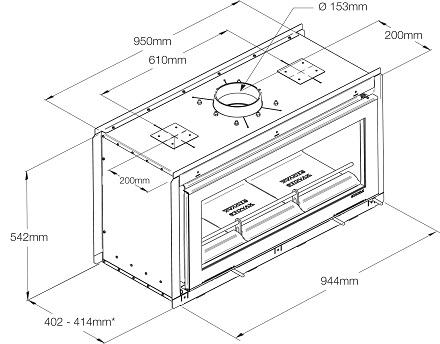 Stovax Duplex Dimensions