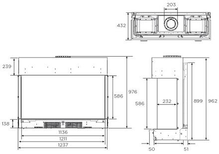 Reflex 105 dimensions